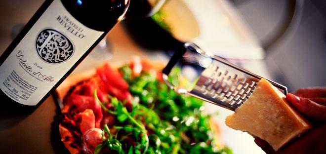 Pizza och vin