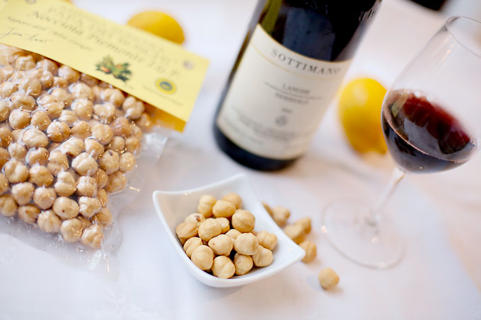 Rostade hasselnötter från Piemonte