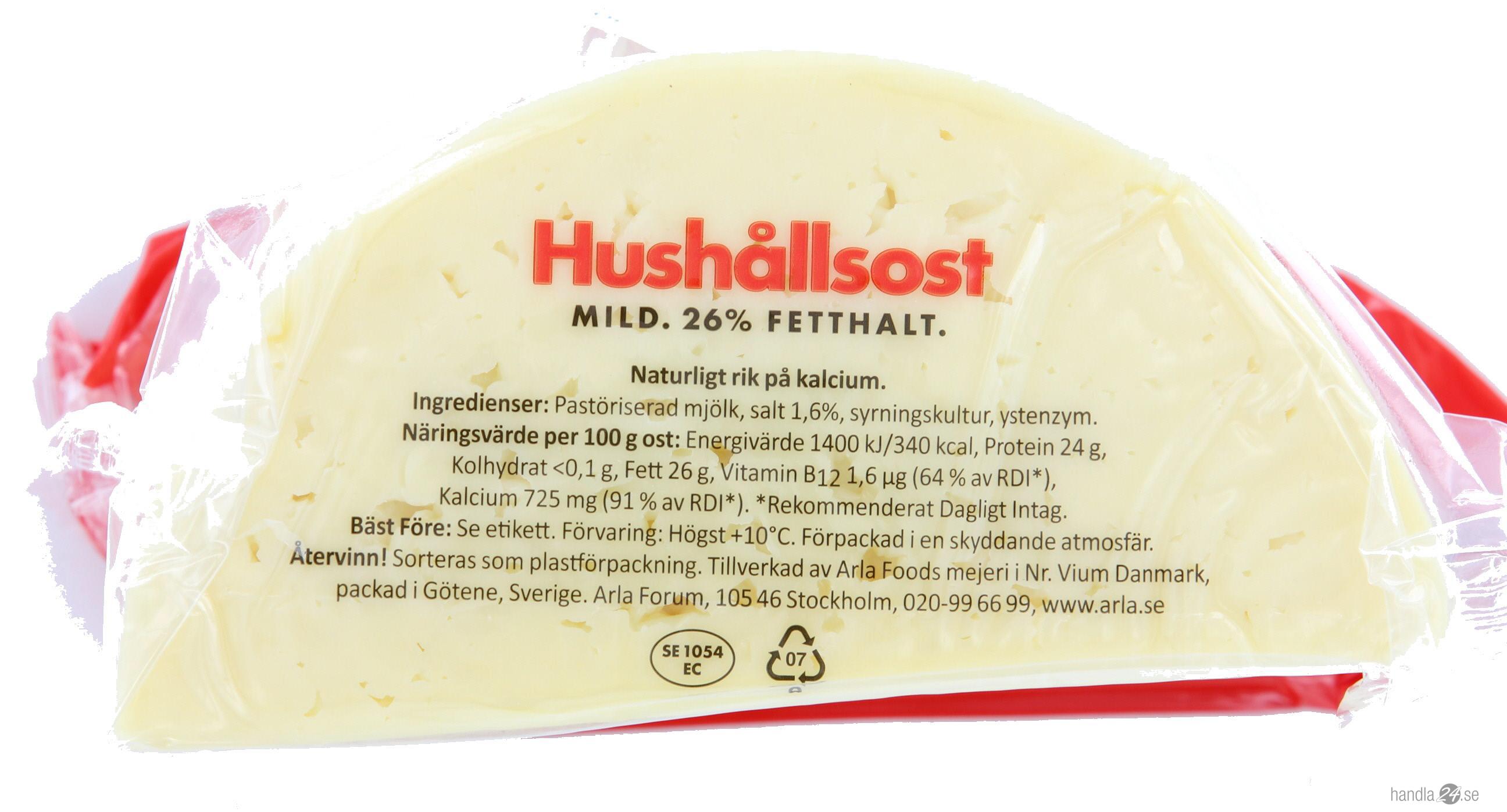 Arlas Hushållsost tillverkas inte i Sverige