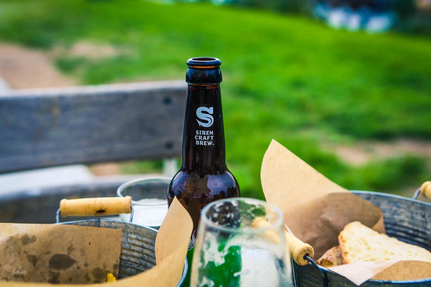 God öl från Siren (2.8%) på Hörte Brygga i södra skåne